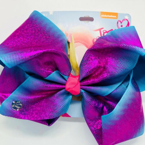 Magenta Pink and Blue Cute Authentic Bow Large Clip On JoJo Siwa Bow