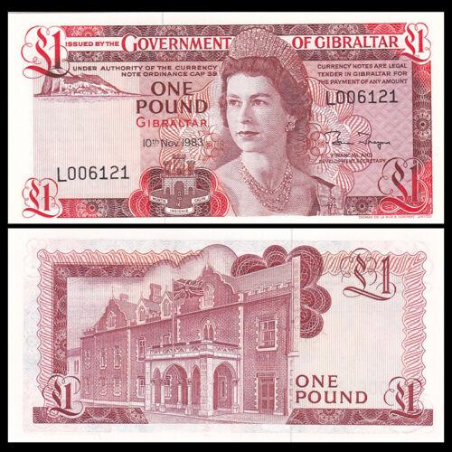 Gibraltar 1 Pounds P-20c UNC 1983 QEII