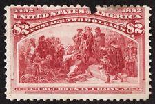 """US Sc# 242 *MINT OG H* (( $2 COLUMBIAN )) FROM 1893 SERIES """"SCARCE"""" CV$ 1,150.00"""