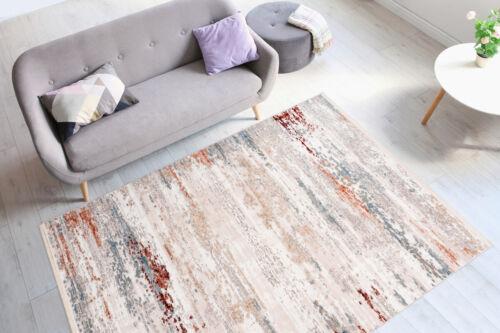 Teppich Vintage Fransen Weich Gemütlich Wohnzimmer Creme Beige Rot 200x300cm