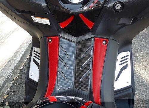 ADESIVO Resinato 3D carbonio-ergal PEDANA ANTERIORE Sticker per YAMAHA Tmax 530