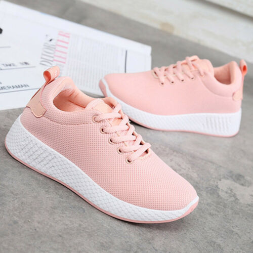 Womens Outdoor Mesh Sport Shoes Breathable Casual Sneakers Running Shoes Size