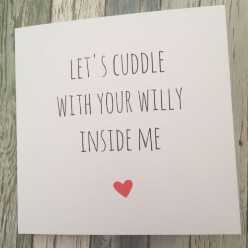 LCW Sarcasm Funny Anniversary Valentine/'s Card Cheeky Humour Rude//  Banter