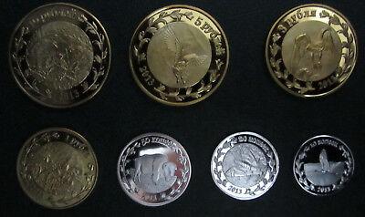 Botswana coins set of 7 pieces 2013 UNC