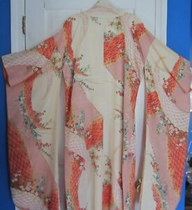 e266351e4 Image is loading Beautiful-ISETAN-Japanese-Kimono-Robe-Vintage-70-039-