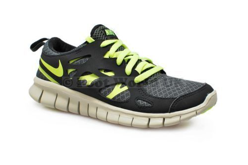 Juniors Nike - Free Run 2 (Gs) - 555340 003 - Foncé Métallique Baskets greenes