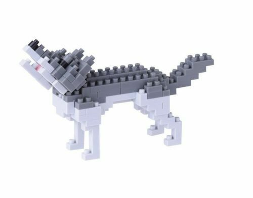Gray Wolf Nanoblock Miniature Building Blocks New Sealed NBC 144