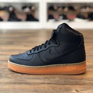 Nike Air Force Schwarz Leder