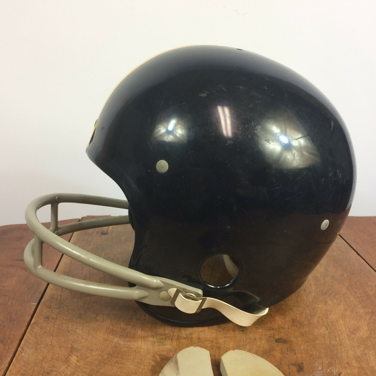 1970's Vintage Rawlings Football helmet helmet helmet Pittsburg Steelers b95817