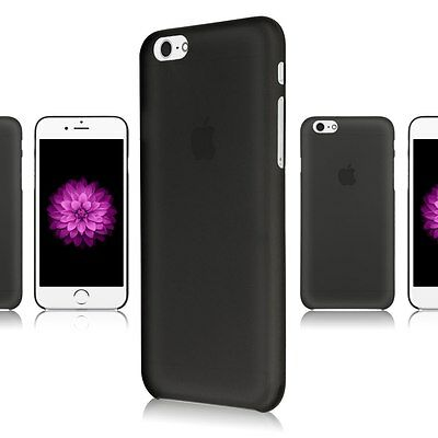 BLACK ULTRA THIN 0.3mm Matte Clear Rubber Silicone Soft Cover Case For iPhone 6