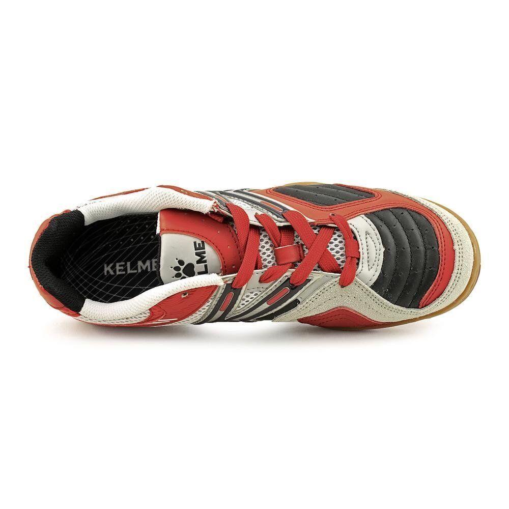 Kelme STAR 360 MICHELIN homme en cuir soccer intérieur Chaussures Noir//Rouge