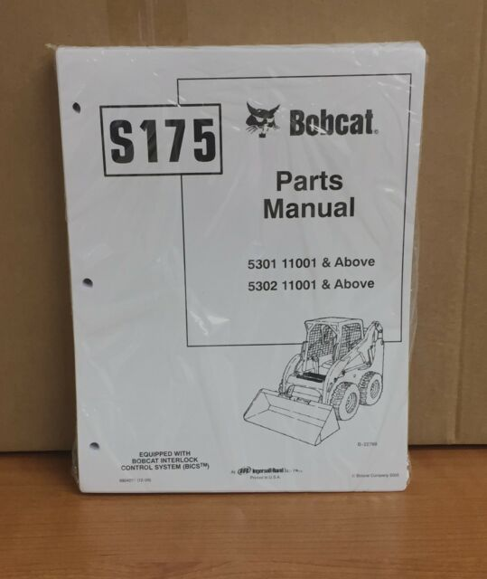 Bobcat S175 Illustrated Parts List Manual 6904271