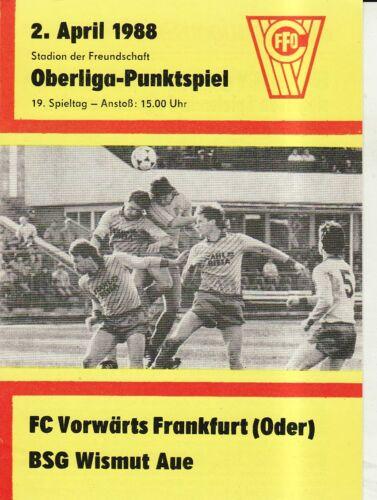 BSG Wismut Aue OL 87//88  FC Vorwärts Frankfurt//O