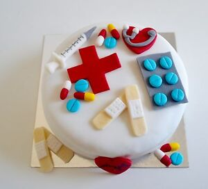 Edible Doctor Nurse Medical Hospital Cake Toppers Birthday