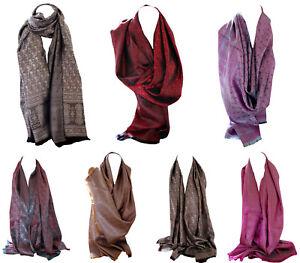 Touché Soie Imprimé Paisley Echarpe Foulard Châle Hijab Tête ... 56f85f0176f