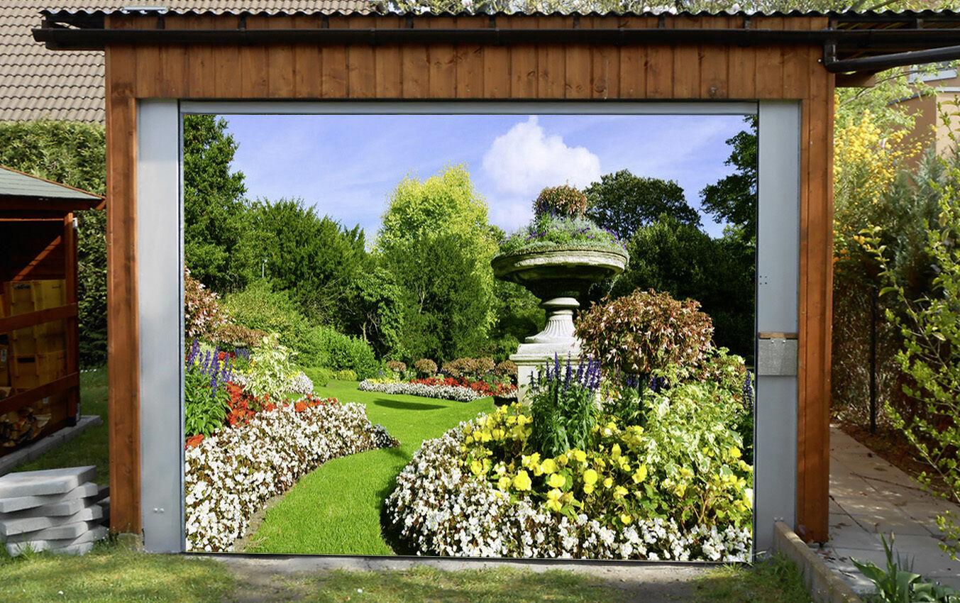 3D Parco Fiore Fiore Fiore 010 Garage Porta Stampe Parete Decorazione Murale AJ WALLPAPER IT 216108