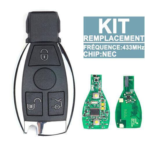 Clé Télécommande Compatible avec Mercedes Benz 3 Bouton Télécommandé Nec Bga
