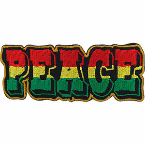 Embroidery-Patch-Rasta-Peace-Reggae-Embroidered-Badge-Iron-On-Sew-On-T-Shirt