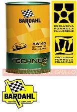 KIT 6 LT Olio motore Bardahl TECHNOS C60 5W40 con FULLERENE M-SAPS
