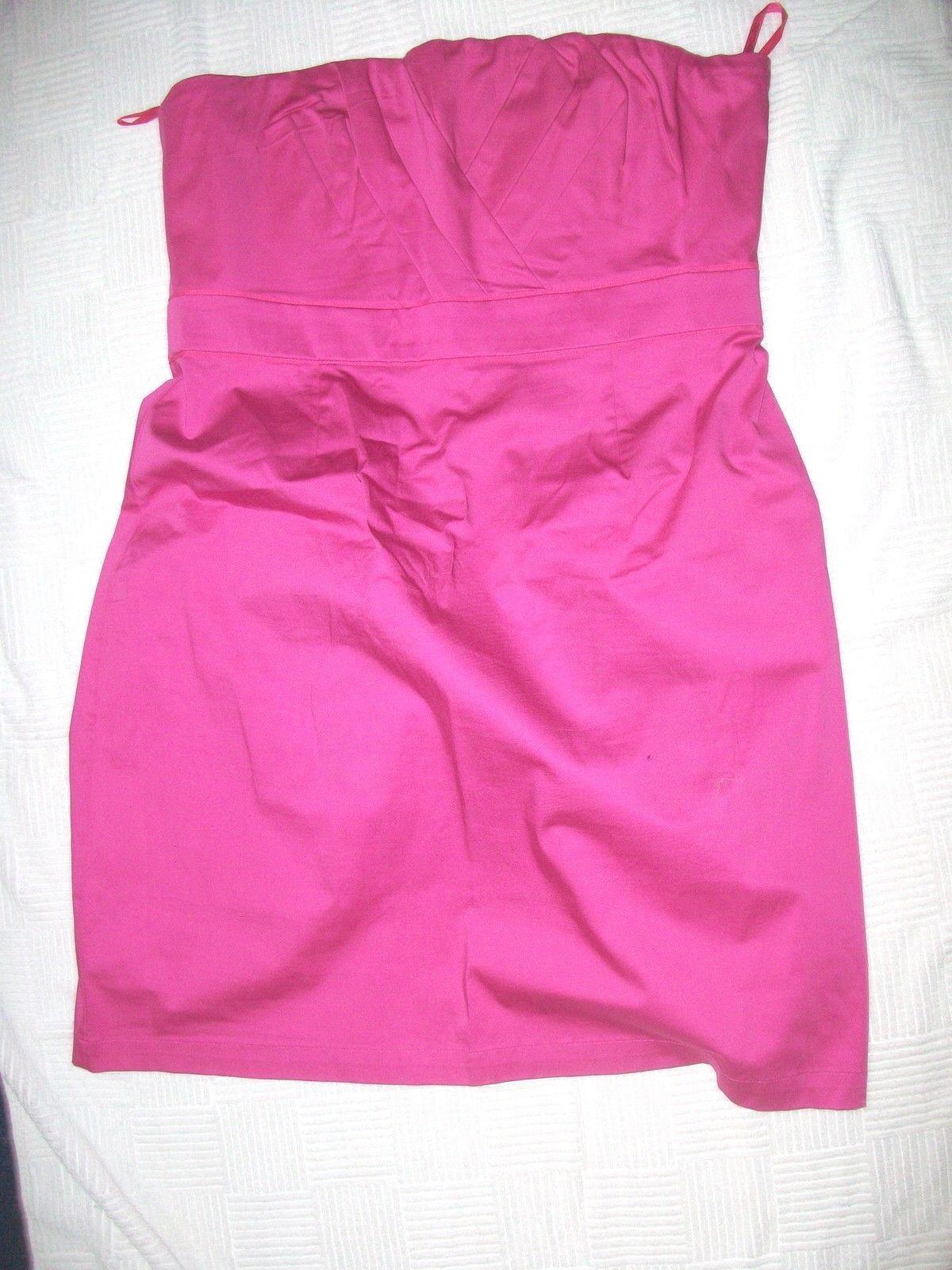 Women's Strapless Dress Fuscha New York & Company NWT Sz 16