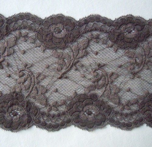 """6.75/"""" Wide Stretch Floral Lace Brown Lingerie,Headband,Gloves,Bow y0292"""
