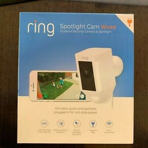 Ring Spotlight Cam Wired FHD Outdoor Security Camera and Spotlight - New Sealed
