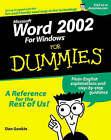 Word 2002 For Dummies by Dan Gookin (Paperback, 2001)