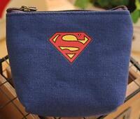 New Arrival Dark Blue Superman Boys Wallet Coin Purse Smal Children Bag X01