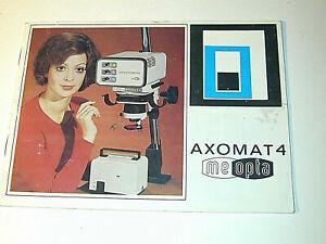 MEOPTA AXOMAT 4 notice en français pour agrandisseur photo photographie