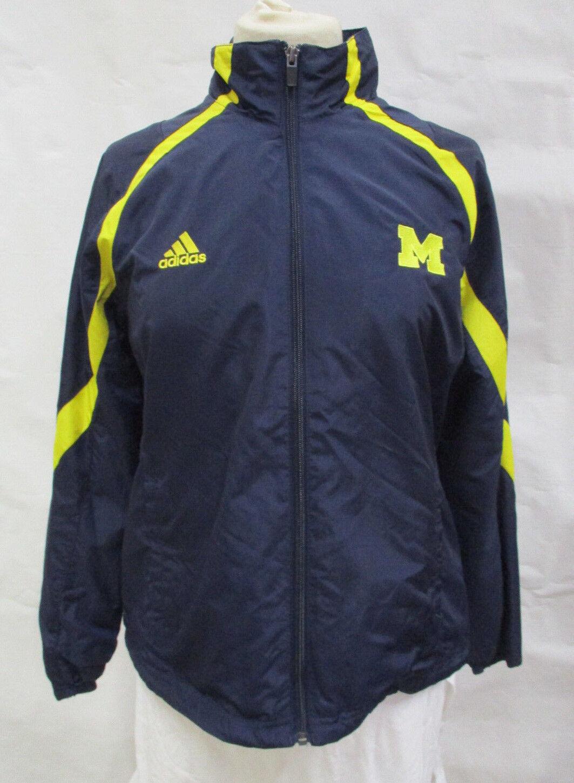 Michigan Wolverines Damen S M L Gefütterte Jacke mit durchgehendem Reißverschluss Adidas NCAA A11