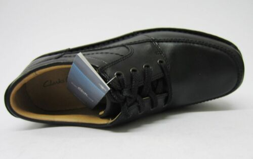 modo Lace casual pelle Sidemouth Mens Up Scarpa nero Clarks q4gnwxR6T1