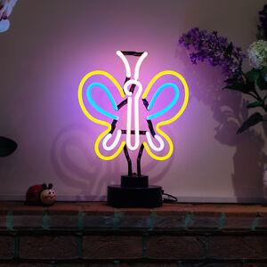 vrai-fait-a-la-main-neon-ne-pas-DeL-BUREAU-LECTURE-LAMPE-PAPILLON-clair