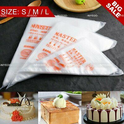 100Pcs Plastic Disposable Icing Piping Pastry Bags Cake Tool Decorating M4G4