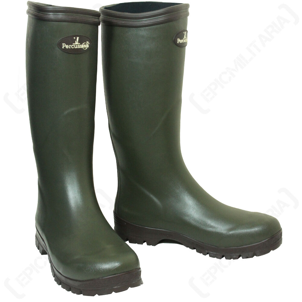 PERCUSSION JERSEY HUNTING Farming WELLINGTON Stiefel - Wellies Farming HUNTING Walking Fishing 159ee0