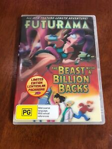 Dvd-Limited-Edition-Futurama-The-Beast-With-A-Billion-Backs-Holographic-Case