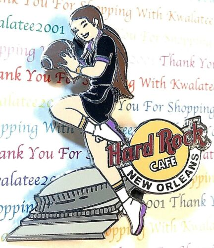 Hard Rock Cafe New Orleans Football Girls Of Rock Series Superdome 2004 Pin NEW