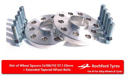 Separadores De Rueda Kit de 20 mm 5x112 Espaciador 57.1 Los Pernos OE para Audi RS3 2 8 V 15-16