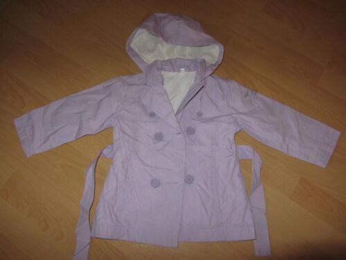E23 Gr *NEU* Wunderschöner Mantel Kapuze Jacke für Mädchen in flieder 68