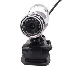 Pro HD 10X Optical Zoom 360°USB 2.0 12MP WebCam Clip-on w/MIC for PC Laptops US