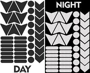 40-Autocollants-Reflechissants-Visibilite-Stickers-Voiture-Velo-Casque-Moto-Noir