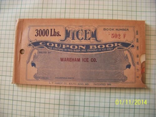 ICE COUPON BOOKS 1920/'S with  free vintage 1961 color post card