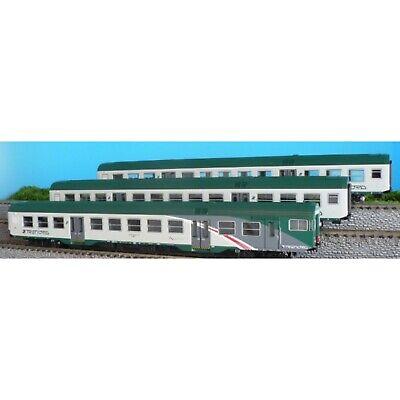 VITRAINS 3105 carrozza MDVC prima classe TRENORD con illuminazione interna 1:87