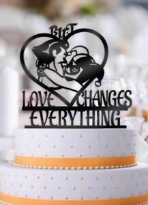 Joker And Harley But Love Changes Everything Wedding Cake Topper Ebay