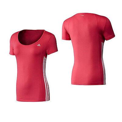 ADIDAS Damen Laufshirt Runningshirt T Shirt Fitness ClimaLite rot Gr. XXS L | eBay