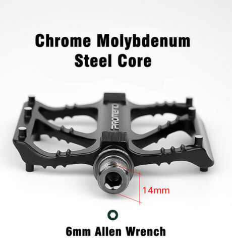 Promend Quick Release Mountain Road Folding Bicycle Pedals 3 Bearing Sealed