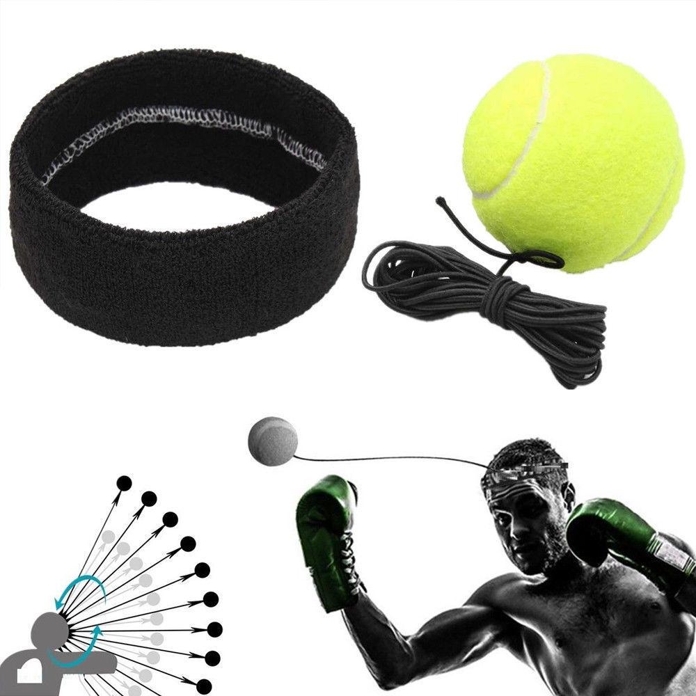 Punching ball Boxing Goods Exercise Head Band Reflex Speed Training Equipment US