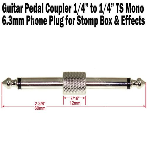 10-Pack Guitar Pedal Coupler 1//4 Male Plug Effect Stomp Box 6.3 Audio Phone Plug