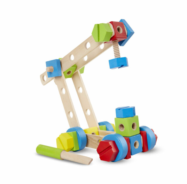 Melissa Doug Twist Turn Wooden Tools Construction Play Set Gift For Kids