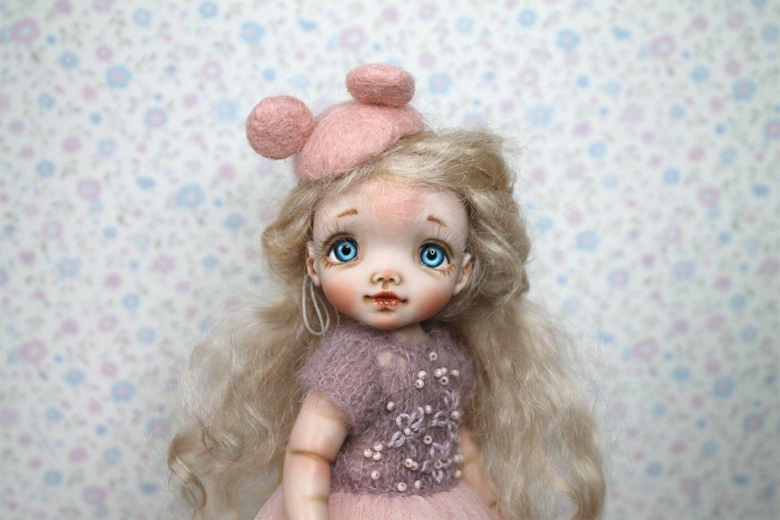 OOAK muñeca hecha a mano artistas muñeca talla 18 cm.