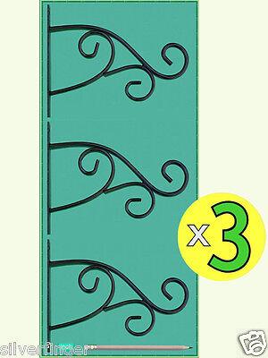 "x3 PLANT HANGER BRACKETS • STEEL PLANT HOOKS 9"" — Hanging Garden Planter Baskets"